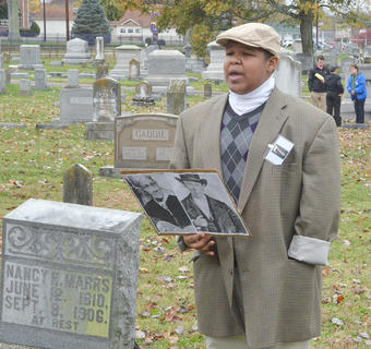 Jeremiah Jackson portrays the ghost of William Marrs, who died in 1906.