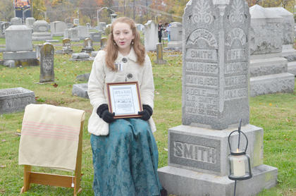 Lauren Williams portrays the wife of Luther Baker Smith, who died in 1936.