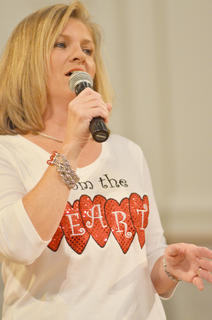 From the Heart member Gail Godsey performs.