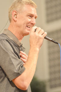 The Joymakers member Pat Church sings.