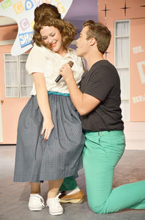 Singrid Tipton of Lawrenceburg, who plays Tracy Turnblad and Lane French of Harrodsburg, who plays Link Larkin, sing &#039;It Takes Two&#039; during the performance.