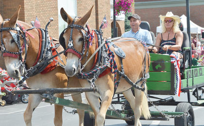 Many residents rode their horses in the parade.