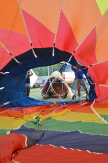 A view inside a hot air balloon belonging to Wayne C. and Janet Smith Van Allen of Nicholasville.