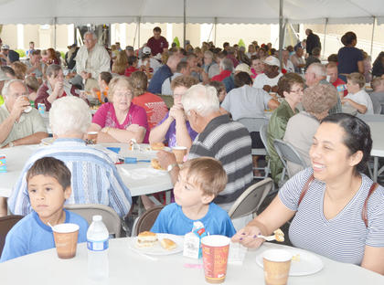 Since it was the only event that rain didn't cancel, many Campbellsville residents came to the annual free breakfast at Campbellsville Christian Church on Thursday morning.