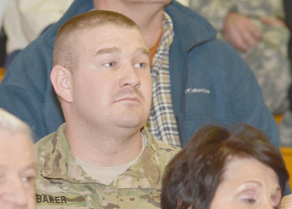 Fourteen of the members of the Campbellsville National Guard unit have been deployed to the Middle East for about nine months. A farewell ceremony for them was Friday afternoon at Taylor County Elementary School.