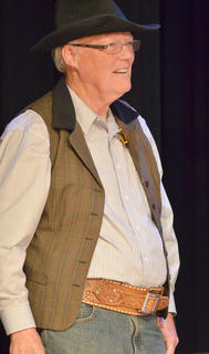 Barry Bertram of Campbellsville portrays lawman Cord Elam.