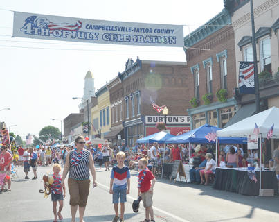 Thousands of people walked along Main Street before the parade began.