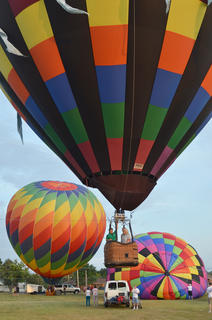 Taylor County residents fly high in a hot air balloon ride.