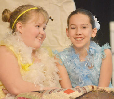Hannah Phillips, at left, and Baylie Skaggs portray Silver City Sweethearts.