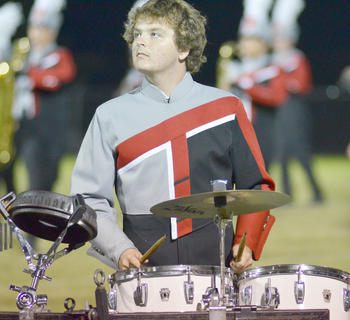 Percussionist David Richerson performs with the TCHS band.