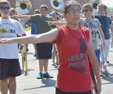 TCHS clarinet player Brittany Rose does a fundamental drill at band camp on Tuesday.