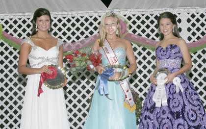 Miss Teen Taylor County Fair winners are, from left, first runner-up Lindsay Allison Haynes, winner Rachel Kate Squires and second runner-up Kennedy Alexis Sabharnal.