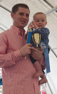The winner of the 10- to 11-months old boys category in the Taylor County Fair Baby pageant is Lincoln James Dury.