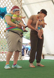 The winners of the 4- to 6-months-old boys category in the Taylor County Fair Baby pageant are winner Emerson Abel Gordon and first runner-up Caleb Jaxson Wood.