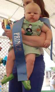 The winner of the 7- to 9-months old boys category in the Taylor County Fair Baby pageant is Owen Jase Skaggs.