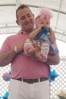 The winner of the 10- to 11-months old girls category in the Taylor County Fair Baby pageant is Greenlee Kate Vaughn.