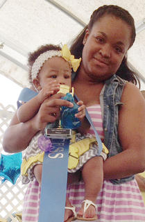 The winner of the 4- to 6-months-old girls category in the Taylor County Fair Baby pageant is Ja 'Leah Ruttley.