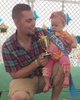 The winner of the 7- to 9-months old girls category in the Taylor County Fair Baby pageant is Addison Jo Nelson.