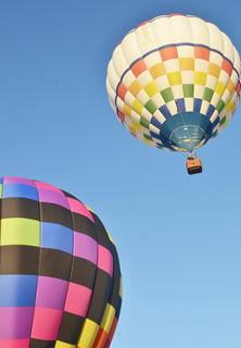 Hot air balloonists flew their balloons over Miller Park on Friday morning, with many Campbellsville residents on board.