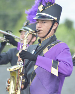 Anthony Drew plays saxophone for the CHS band.