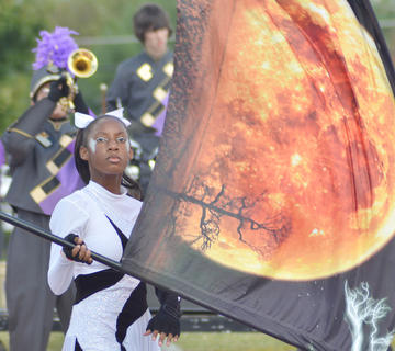Takishia Clayton is a member of the CHS color guard.