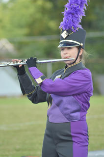 Flute player Abby Hieneman performs with the CHS band.