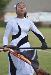 Kayla Atkinson is a member of the CHS color guard.