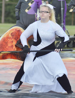 Crystal Rattliff is a member of the CHS color guard.