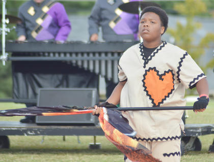 Darius Wright performs with the CHS band.