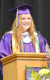 "During her speech to her classmates, CHS valedictorian Emily Haley said, ""The future can be anything we want it to be."" She also reminded her fellow graduates to not forget to thank those who have helped them in life."