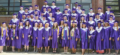 The Class of 2015 poses for their final photo together as high school seniors.