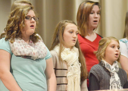 "CHS and CMS choir members perform ""Christmas Joy."""