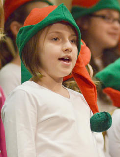 "CES Choir members perform ""Christmas Makes Me Sing."""