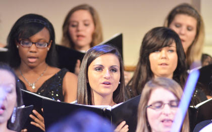 Haleigh Lanham of Danville sings soprano with the University Chorale and Concert Chorus.