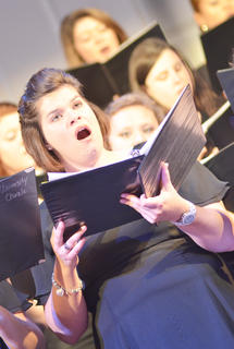 Rebecca Oliver of Campbellsville sings alto with the University Chorale and Concert Chorus.