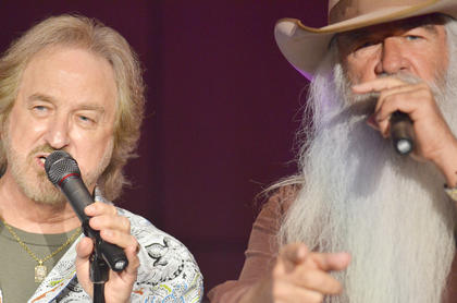Duane Allen, at left, and William Lee Golden sing.