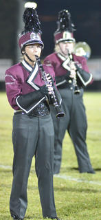 Janae Redmon plays clarinet with the CU marching band.