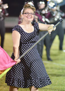 Andrea Bault of Campbellsville is a member of the CU color guard.