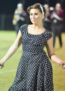 Lauren Summers of Campbellsville is a member of the CU color guard.