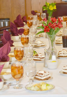 Students are treated to a four-course meal to learn the proper way to eat and behave during a business lunch.