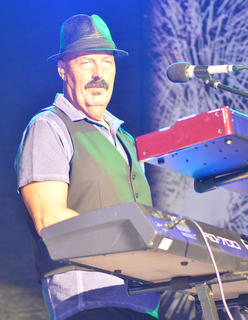 Marlon Hargis plays keyboards for Exile.