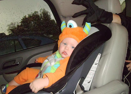 This young trick-or-treater wasn't identified.