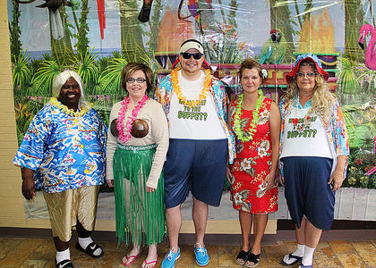 Citizens Bank and Trust Co. employees were in costume to celebrate Halloween last week.