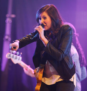 "Francesca Battistelli performs as part of the ""Hands of God"" tour Friday."