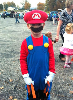 Isaiah White is dressed as Mario at Muldraugh Hill Baptist Church's Trunk or Treat on Wednesday, Oct. 30.