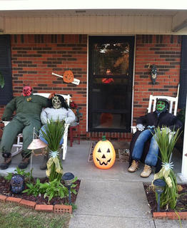 Stephanie Cravens shared this picture of her front-porch Halloween decorations.