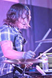 Josh Duckworth plays drums for Finding Favour.