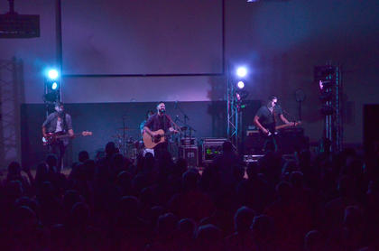 Finding Favour sings at Elk Horn Baptist Church.