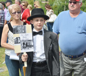 Andrew Melton portrays the spirit of Dr. Sam Bass, who was a longtime doctor in Taylor County and died in 1909.