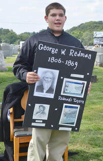Ryan Wiedewitsch portrays the spirit of the late George Redman Sr., who operated Redman's Tavern in Taylor County.